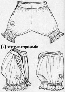quality design f7bea ebf4e Herstellung von Unterwäsche des 19. JH.