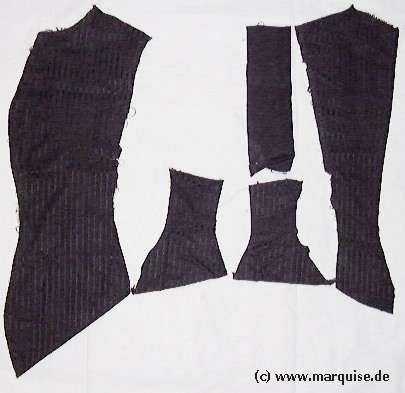 Anatomie einer 1880er Taille