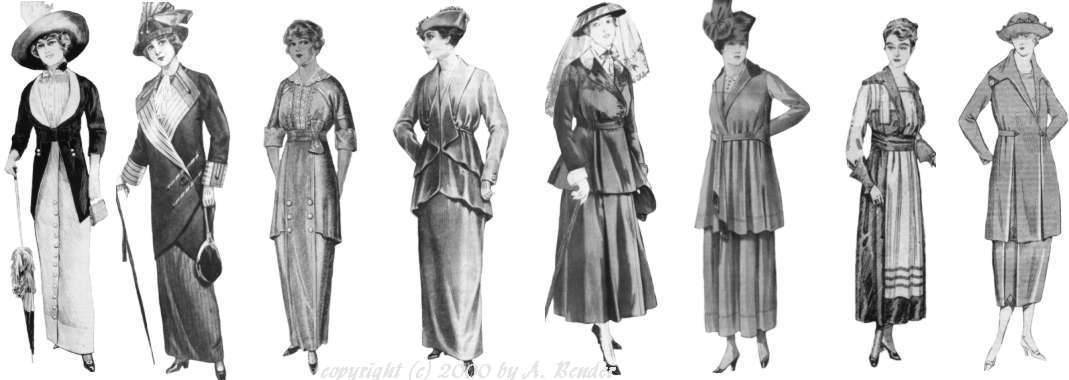 fashion change 1910