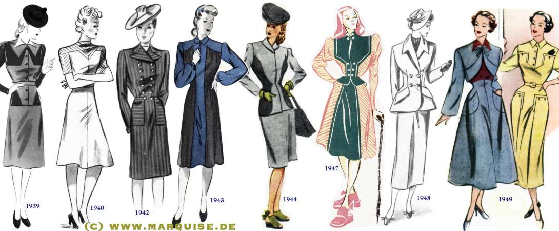 Line Drawings Of Women S Clothing Through History
